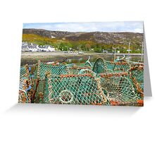 Lobster Pots at Ullapool Harbour Greeting Card