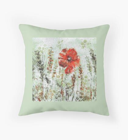 Poppy Field Cold Throw Pillow
