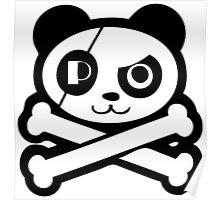 Pirate Panda Eye-Patch Poster