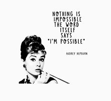 For Audrey Is Possible Women's Fitted Scoop T-Shirt