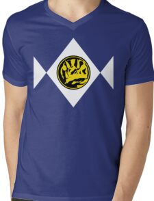 Mighty Morphin Power Rangers Blue Ranger 2 Mens V-Neck T-Shirt
