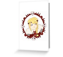 Astrid Motif Greeting Card
