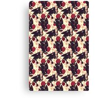 Floral Toothless Canvas Print