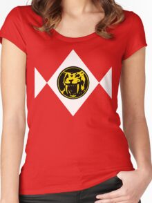 Mighty Morphin Power Rangers Yellow Ranger 2 Women's Fitted Scoop T-Shirt