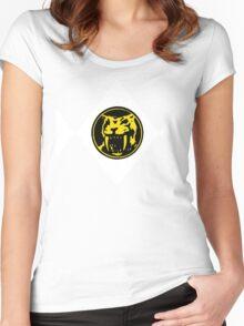 Mighty Morphin Power Rangers Yellow Ranger 2 Women's Fitted Scoop T-Shirt