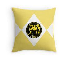 Mighty Morphin Power Rangers Yellow Ranger 2 Throw Pillow