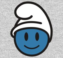 Smurf Smiley One Piece - Long Sleeve