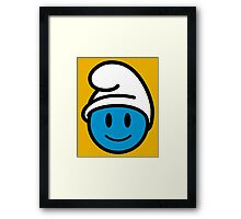 Smurf Smiley Framed Print