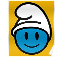 Smurf Smiley Poster