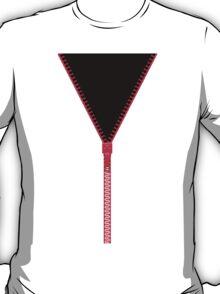 Pink zipper - black inside T-Shirt
