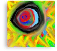 crazy aura migraine eye Canvas Print
