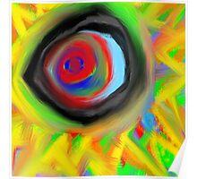 crazy aura migraine eye Poster