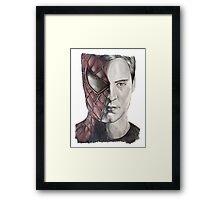 Spiderman/Peter Parker Framed Print