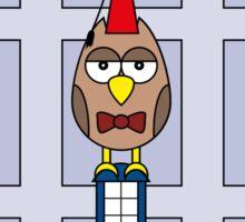 DOCTOR WHO MATT SMITH OWL CARD (ADD A NAME) Sticker