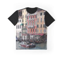 View From Rialto Bridge, Venice Italy Graphic T-Shirt
