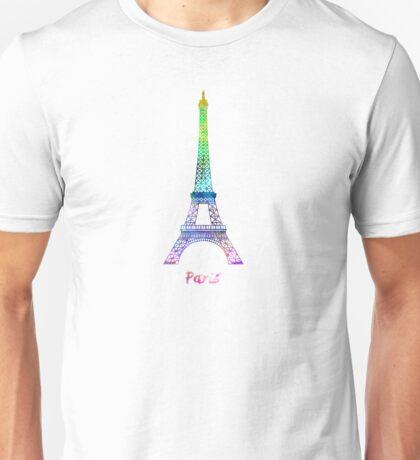 Paris Landmark Tour Eiffel in watercolor Unisex T-Shirt