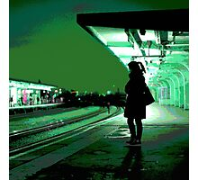 Chiswick Station, Green Photographic Print