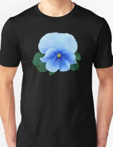 Baby Blue Pansy Unisex T-Shirt