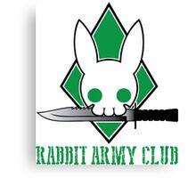 Rabbit Army Club Canvas Print