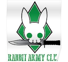 Rabbit Army Club Poster