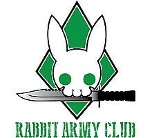 Rabbit Army Club Photographic Print