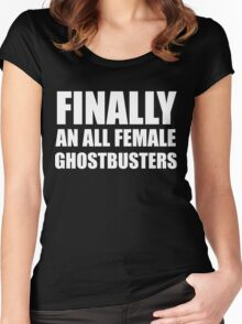 All Female Ghostbusters Women's Fitted Scoop T-Shirt
