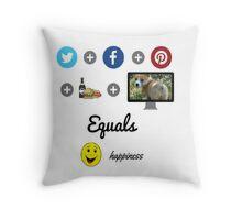 Social Media Happiness Throw Pillow