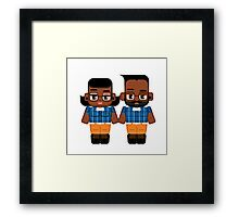 Just another hipster dude and chick Framed Print