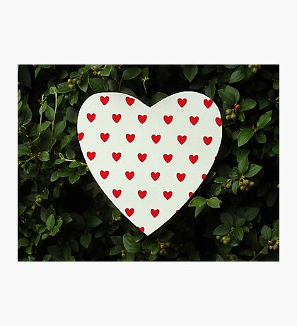 Printed Heart Photographic Print