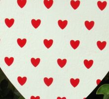 Printed Heart Sticker