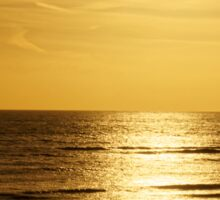 Sunset over the English Channel Sticker