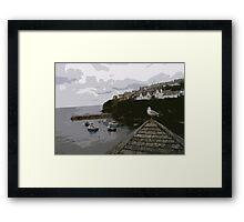Port Isaac Seagull Framed Print