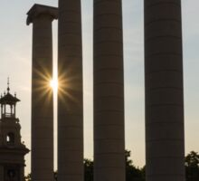 Hot Barcelona Afternoon - Magnificent Columns, Long Shadows and Brilliant Sun Flares Sticker
