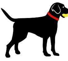 Labrador Retriever Fetch Ball by ginjav