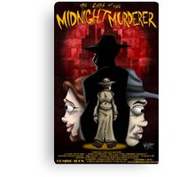 The Case of the Midnight Murderer: Scenes in Red Canvas Print