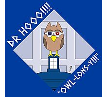 DOCTOR HOOO (TENTH DOCTOR) OWL-LONS-Y! Photographic Print