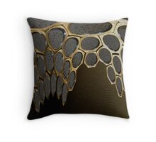 Hexagon Distortion Throw Pillow