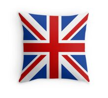Union Jack (Red, White & Blue)  Throw Pillow