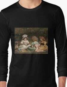 John Everett Millais - Afternoon Tea. Child portrait: cute baby, kid, children, pretty angel, child, kids, lovely family, boys and girls, boy and girl, mom mum mammy mam, childhood Long Sleeve T-Shirt