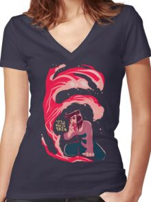 Tidal Wave of Pain Women's Fitted V-Neck T-Shirt