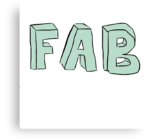 FAB  Canvas Print