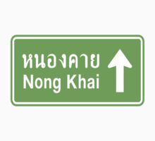 Nong Khai, Isaan, Thailand Ahead ⚠ Thai Traffic Sign ⚠ by iloveisaan