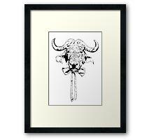 Buffalo - Fineliner Illustration Framed Print