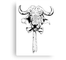 Buffalo - Fineliner Illustration Canvas Print