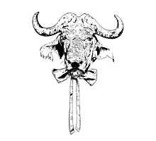 Buffalo - Fineliner Illustration Photographic Print
