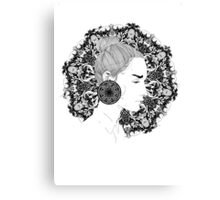 Eva - Fineliner Illustration Canvas Print