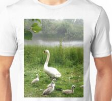Beautiful Swan with the Cygnets Unisex T-Shirt