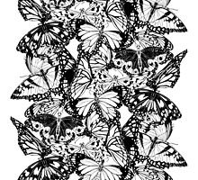Flutter - Fineliner Illustration by InkheartLondon