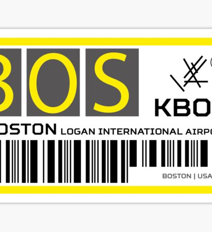 Destination Boston Airport Sticker