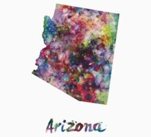 Arizona US state in watercolor One Piece - Short Sleeve
